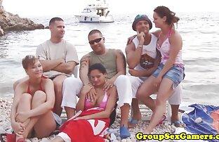סקס על החוף בקבוצות גדולות. סקס חינם